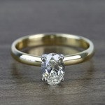 Classic Solitaire 0.72 Carat Oval Diamond Engagement Ring - small