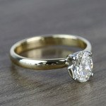 Classic Solitaire 0.72 Carat Oval Diamond Engagement Ring - small angle 3