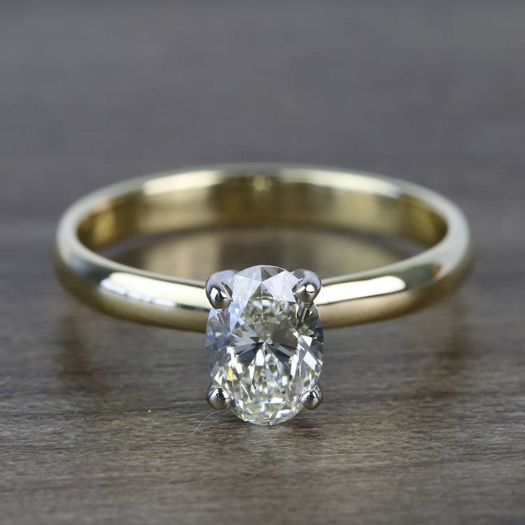 Classic Solitaire 0.72 Carat Oval Diamond Engagement Ring