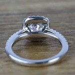 0.90 Carat Square Halo Round Diamond Engagement Ring - small angle 4