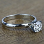 Classic Solitaire 0.96 Carat Round Loose Diamond Engagement Ring - small angle 3
