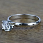 Classic Solitaire 0.96 Carat Round Loose Diamond Engagement Ring - small angle 2