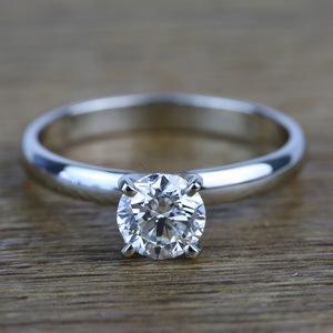 Classic Solitaire 0.96 Carat Round Loose Diamond Engagement Ring