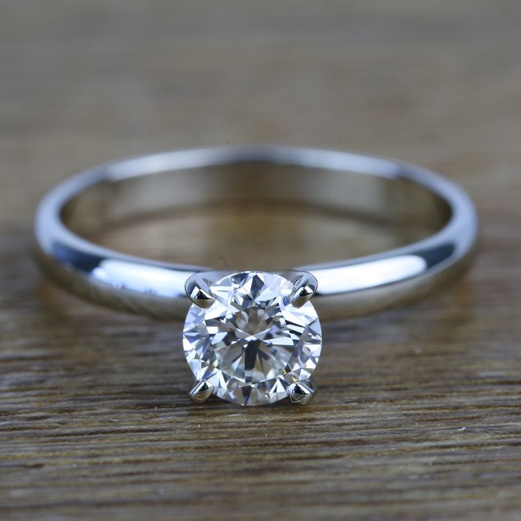 Classic Solitaire 0.96 Carat Round Loose Diamond Engagement Ring