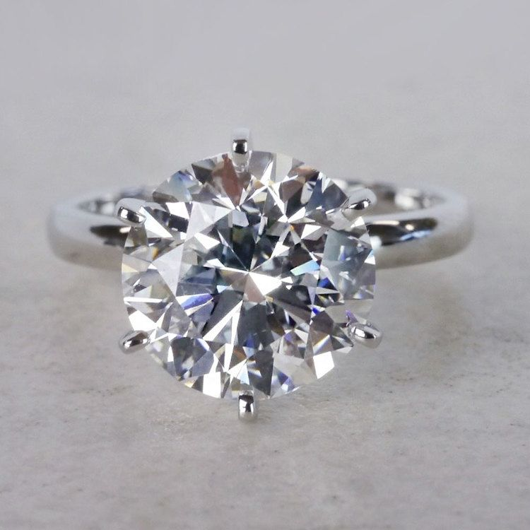 Classic Solitaire 4 Carat Diamond Ring