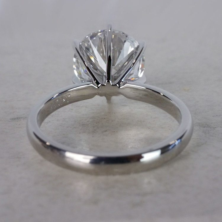 Classic Solitaire 4 Carat Diamond Ring angle 4
