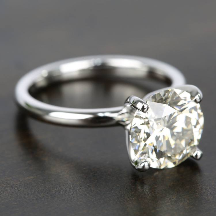 Classic M-Color Diamond Solitaire Ring (2.50 Carat) angle 3