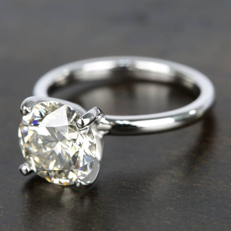 Classic M-Color Diamond Solitaire Ring (2.50 Carat) angle 2