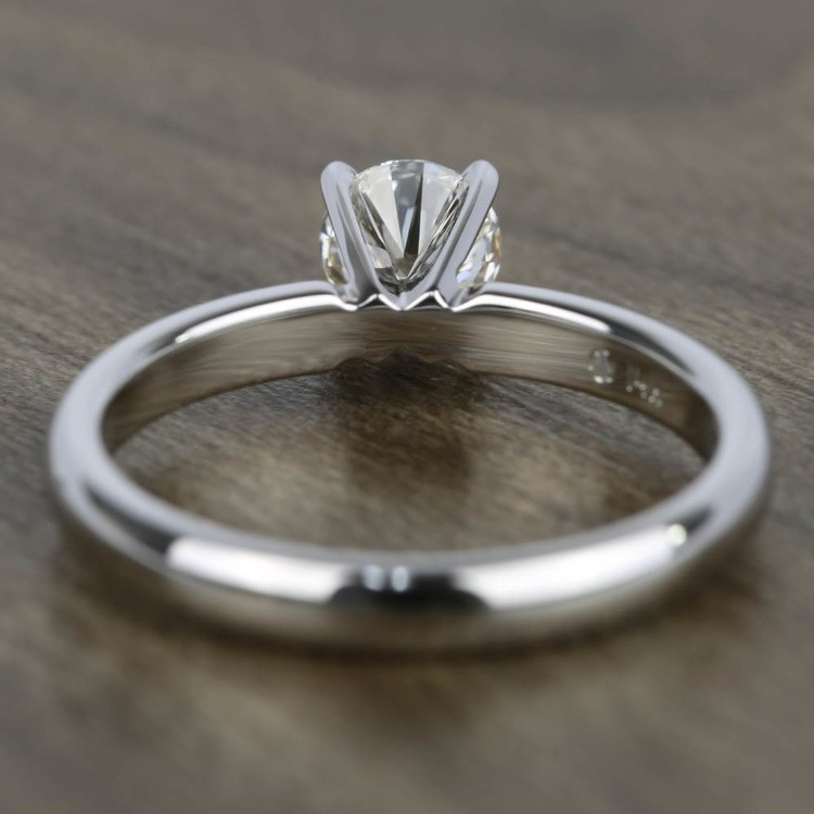 0.45 Carat Diamond Solitaire Engagement Ring in White Gold angle 4
