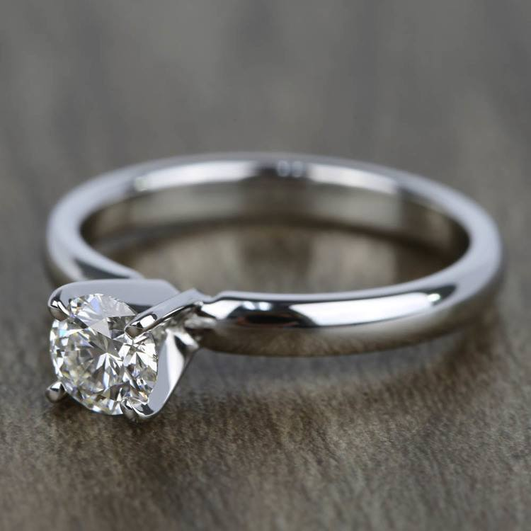 0.45 Carat Diamond Solitaire Engagement Ring in White Gold angle 2