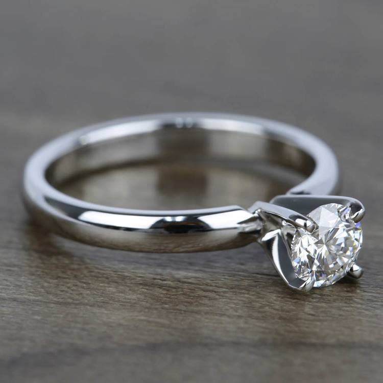 0.45 Carat Diamond Solitaire Engagement Ring in White Gold angle 3