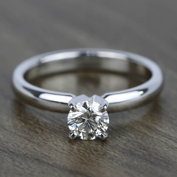 0.45 Carat Diamond Solitaire Engagement Ring in White Gold