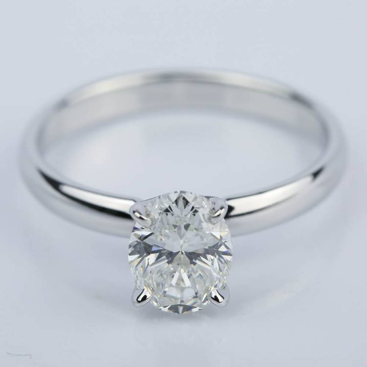 Classic Solitaire Engagement Ring with Oval Diamond (1.23 ct.)
