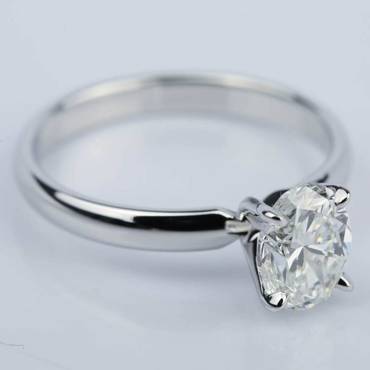 Classic Solitaire Engagement Ring with Oval Diamond (1.23 ct.) angle 3