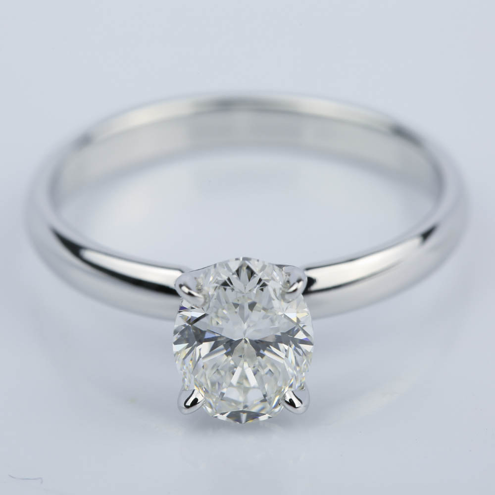 classic solitaire engagement ring with oval diamond ct. Black Bedroom Furniture Sets. Home Design Ideas