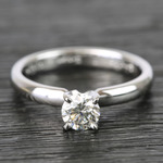 Classic Solitaire Half Carat Round Diamond Engagement Ring - small