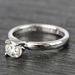 Classic Solitaire Half Carat Round Diamond Engagement Ring - small angle 2