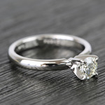 Classic Solitaire Half Carat Round Diamond Engagement Ring - small angle 3