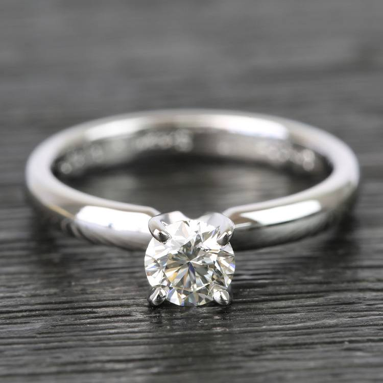 Classic Solitaire Half Carat Round Diamond Engagement Ring