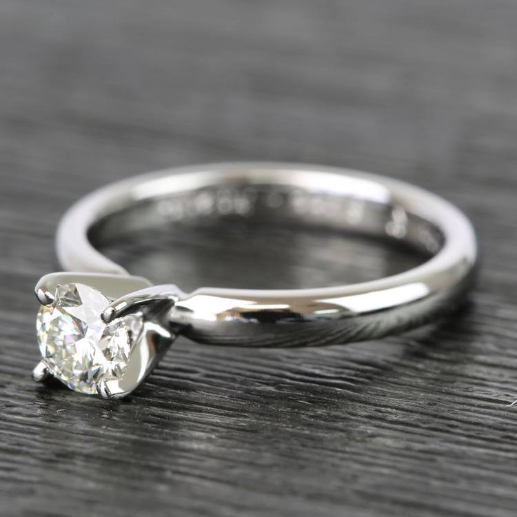 Classic Solitaire Half Carat Round Diamond Engagement Ring angle 2