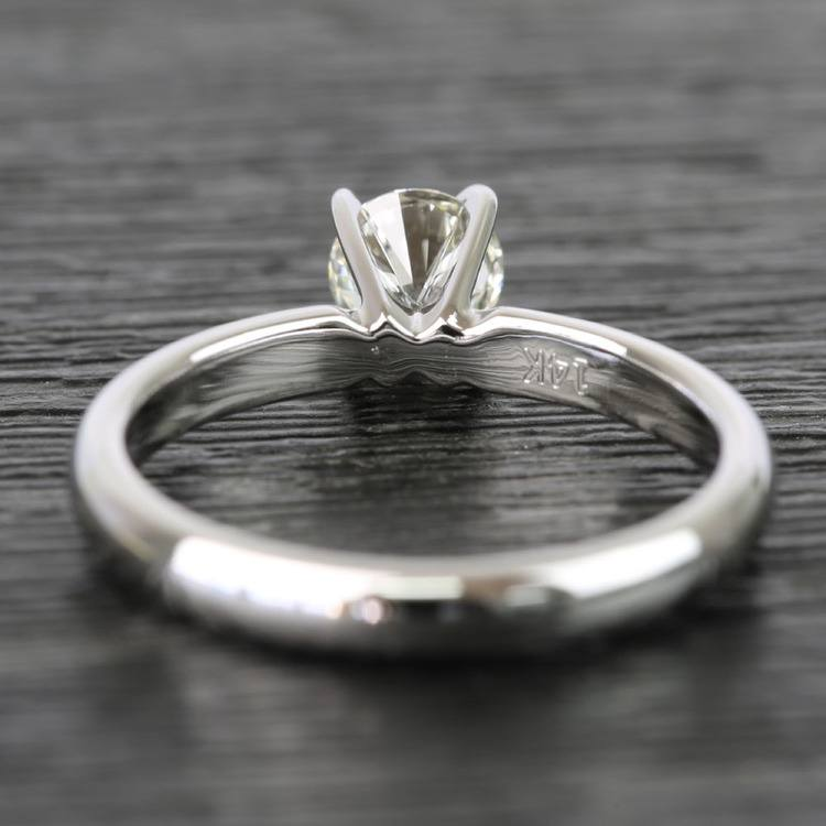 Classic Solitaire Half Carat Round Diamond Engagement Ring angle 4