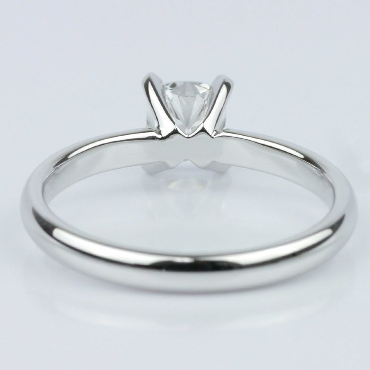 Classic Solitaire Ring with Cushion Diamond angle 4
