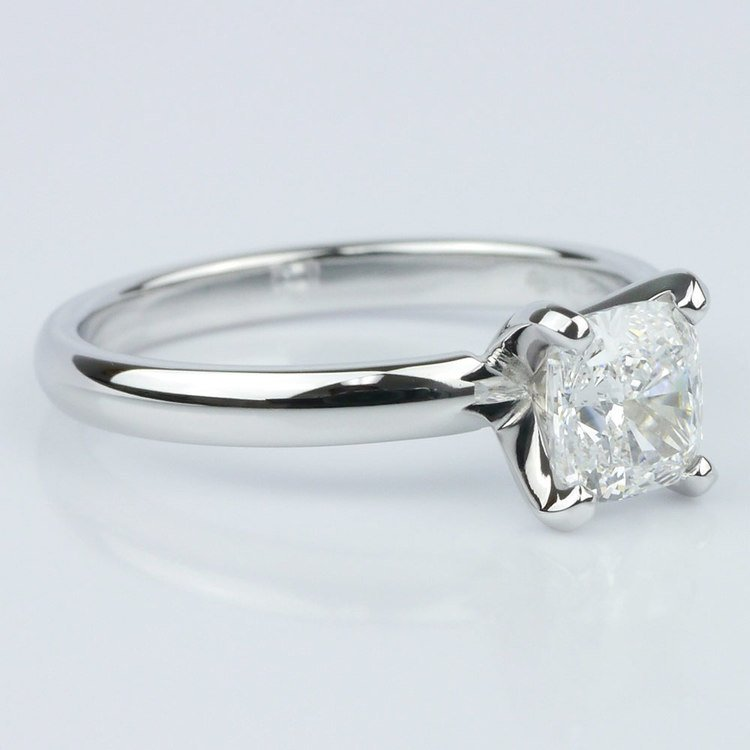 Classic Solitaire Ring with Cushion Diamond angle 3
