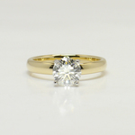 Classic 1 Carat Solitaire Round Diamond Engagement Ring - small