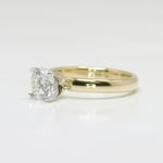 Classic 1 Carat Solitaire Round Diamond Engagement Ring - small angle 2
