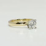 Classic 1 Carat Solitaire Round Diamond Engagement Ring - small angle 3