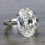 Classically Solitaire Oval Diamond Ring - small angle 3