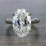 Classically Solitaire Oval Diamond Ring - small