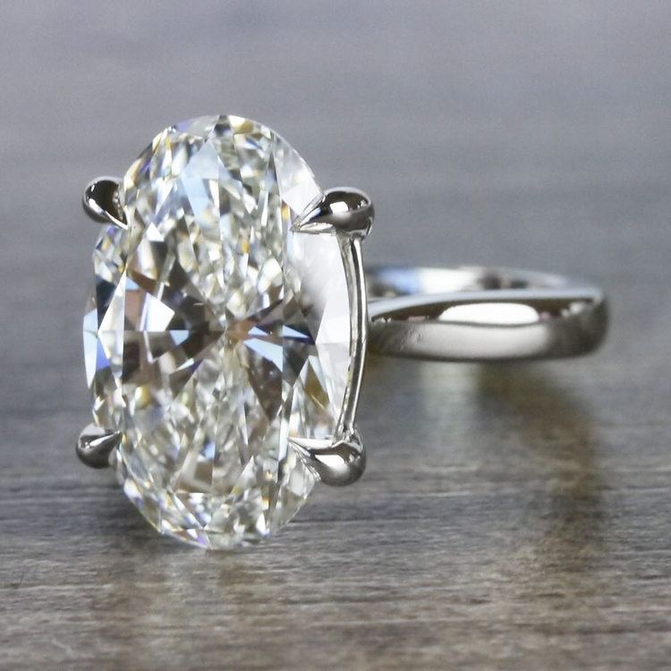 Classically Solitaire Oval Diamond Ring angle 2