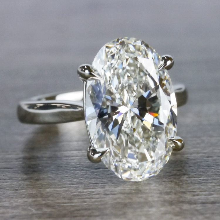 Classically Solitaire Oval Diamond Ring angle 3