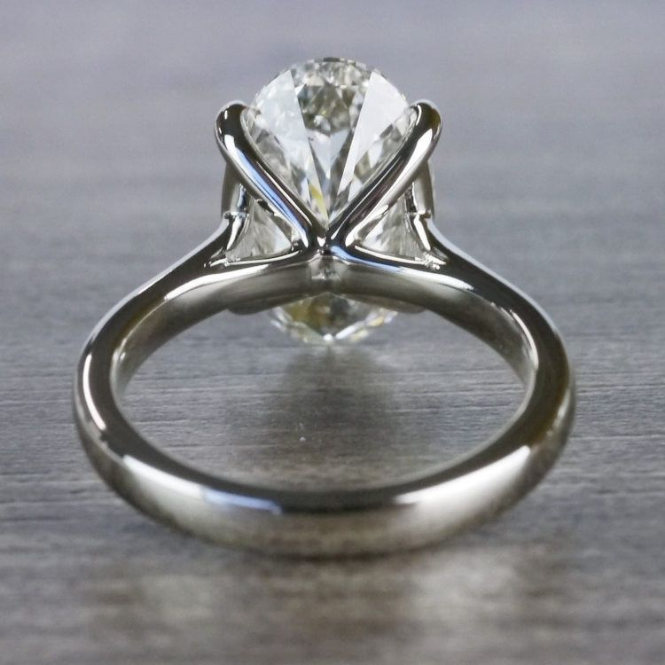 Classically Solitaire Oval Diamond Ring angle 4