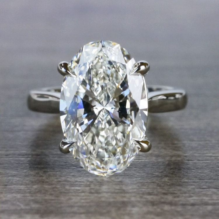 Classically Solitaire Oval Diamond Ring