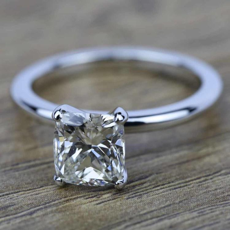 Claw Prong Comfort-Fit Solitaire Cushion Diamond Engagement Ring (1.50 ct.) angle 5