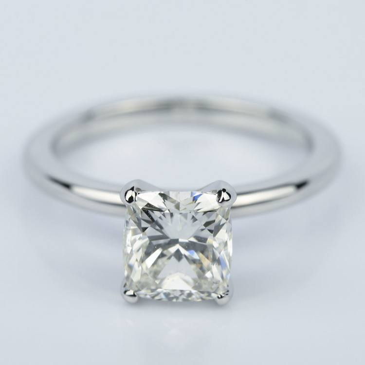 Claw Prong Comfort-Fit Solitaire Cushion Diamond Engagement Ring (1.50 ct.)