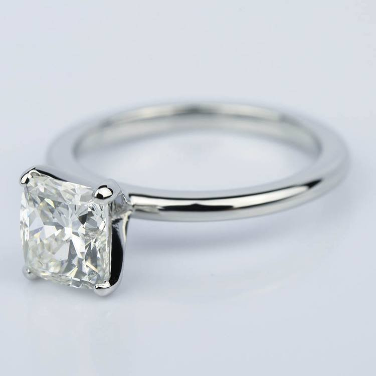 Claw Prong Comfort-Fit Solitaire Cushion Diamond Engagement Ring (1.50 ct.) angle 2