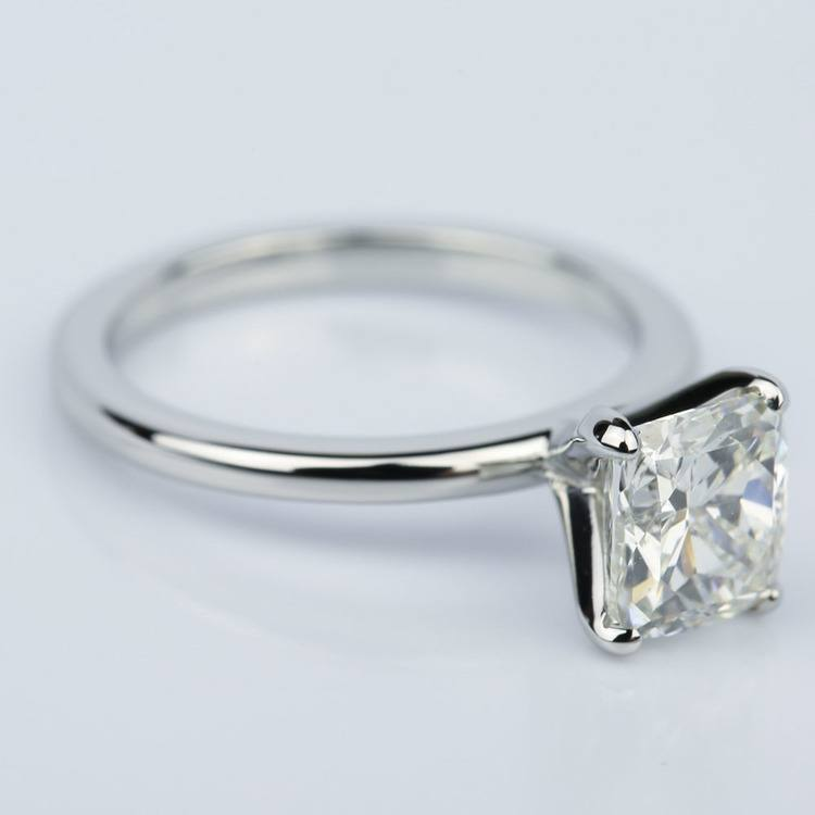 Claw Prong Comfort-Fit Solitaire Cushion Diamond Engagement Ring (1.50 ct.) angle 3
