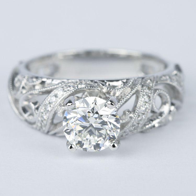 Climbing Milgrain Diamond Engagement Ring By Parade (1 Carat)