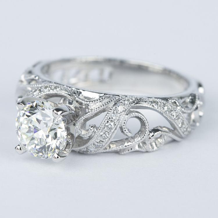 Climbing Milgrain Diamond Engagement Ring By Parade (1 Carat) angle 2