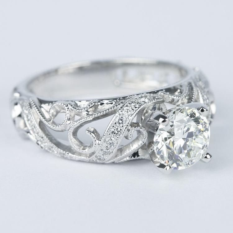 Climbing Milgrain Diamond Engagement Ring By Parade (1 Carat) angle 3