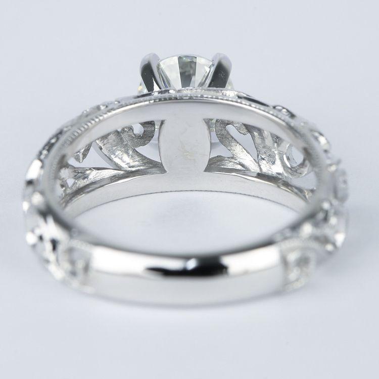 Climbing Milgrain Diamond Engagement Ring By Parade (1 Carat) angle 4