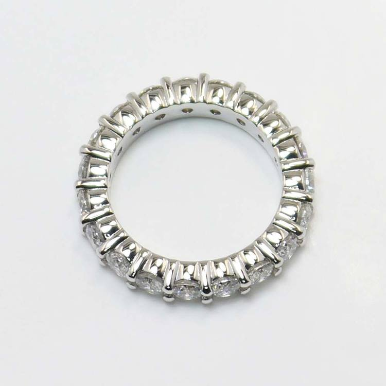 7.5 Carat Round Diamond Eternity Band angle 3
