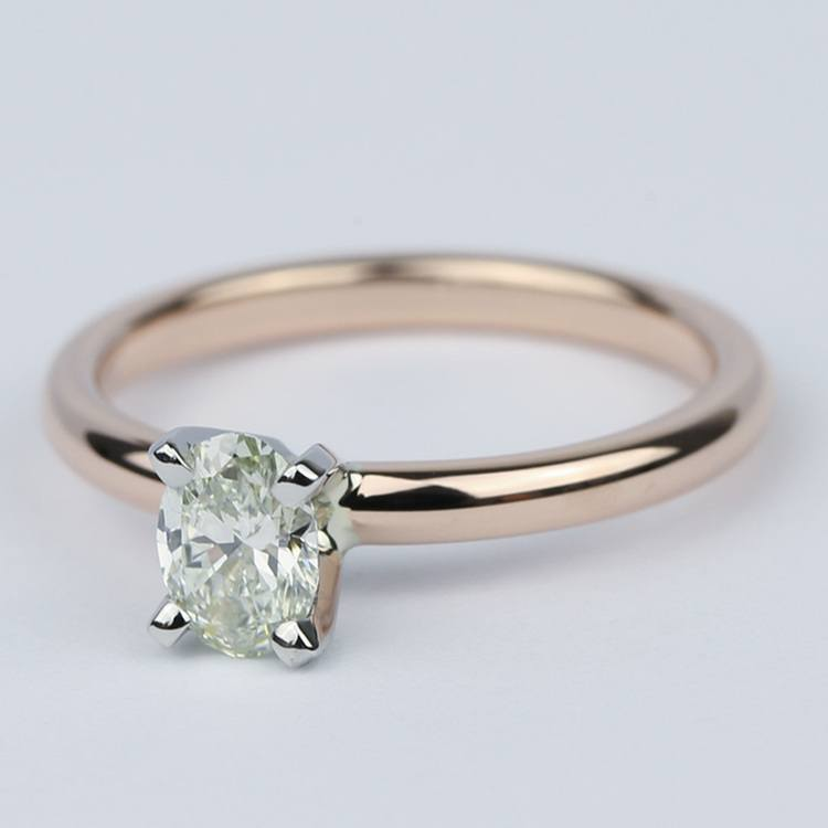 Comfort-Fit Oval Diamond Engagement Ring (1/2 Carat) angle 2