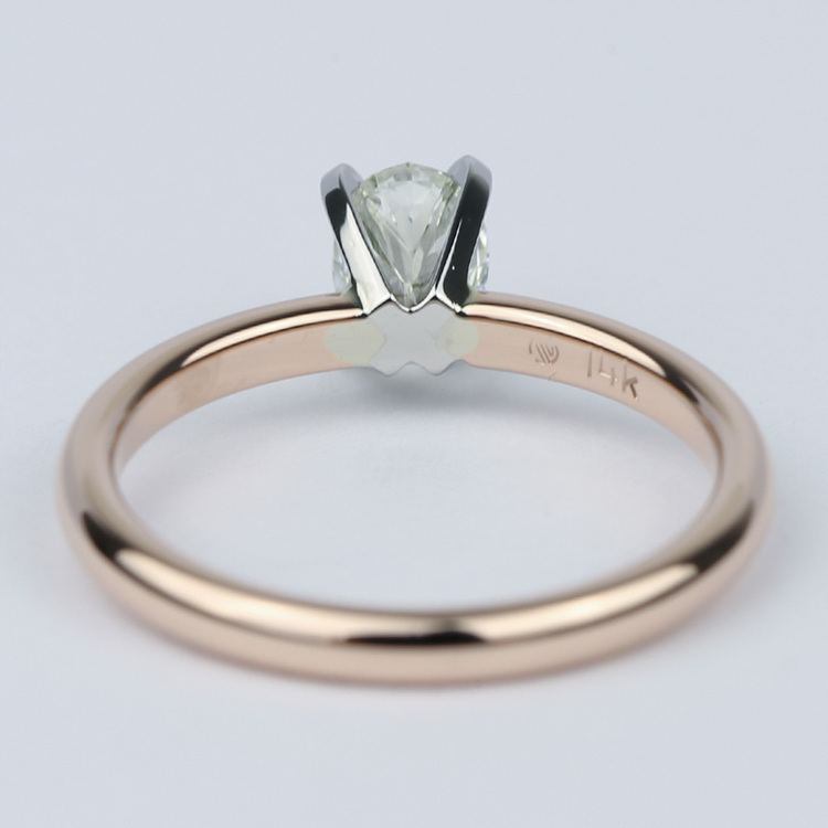 Comfort-Fit Oval Diamond Engagement Ring (1/2 Carat) angle 4