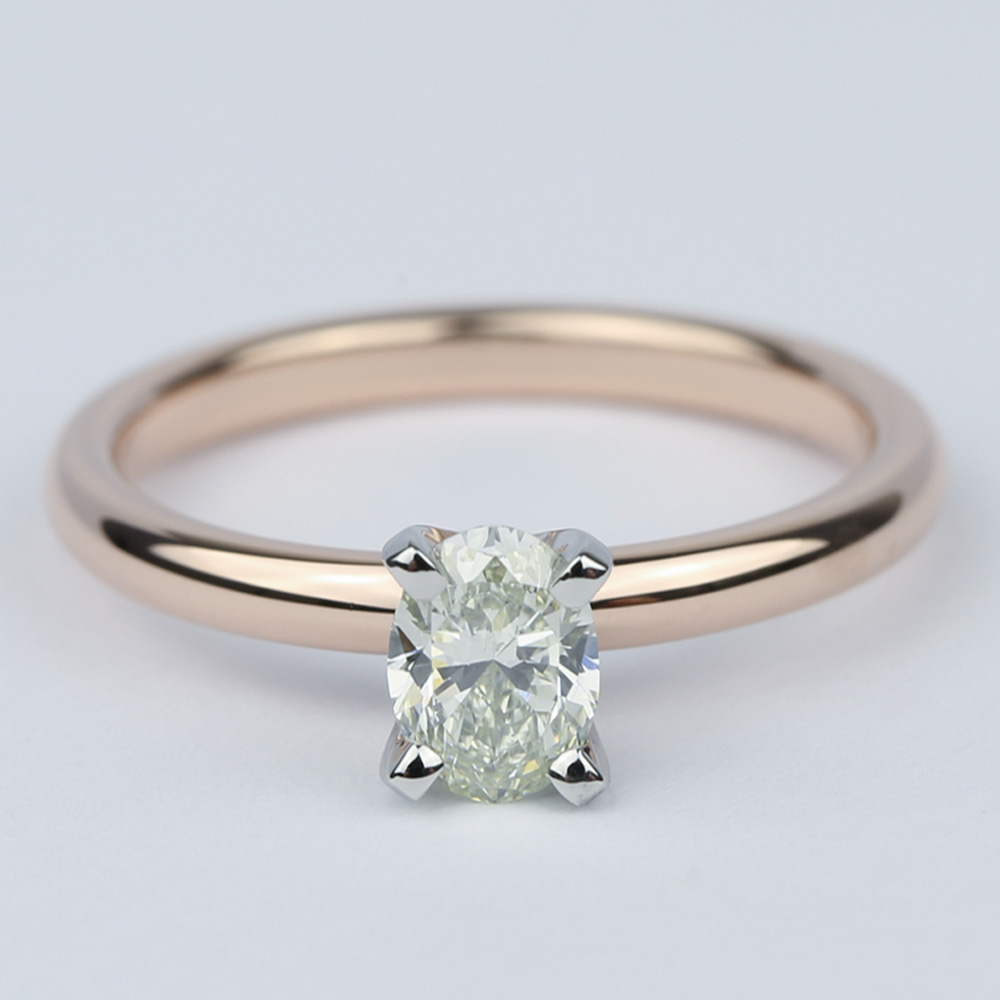 Comfort Fit Oval Diamond Engagement Ring 1 2 Carat