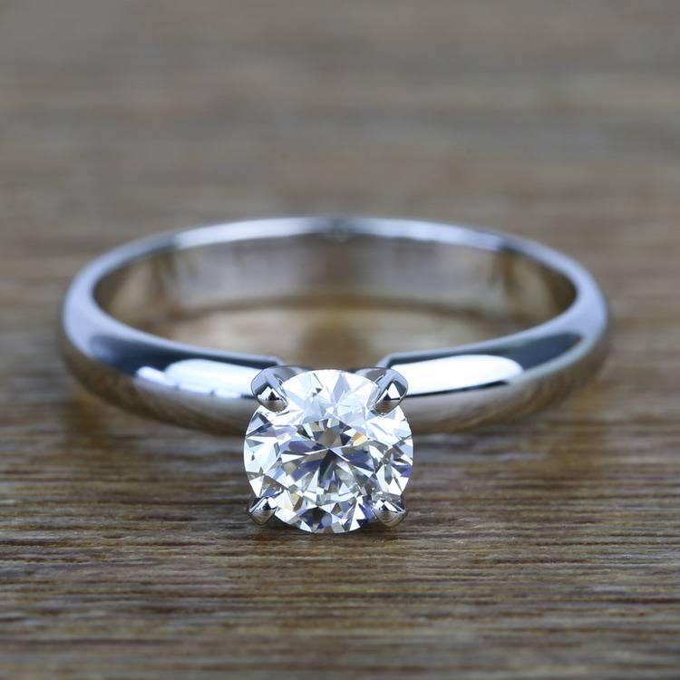 Comfort-Fit 0.85 Carat Round Solitaire Diamond Engagement Ring
