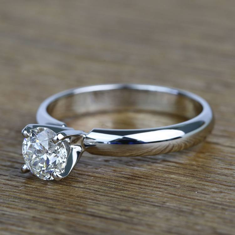 Comfort-Fit 0.85 Carat Round Solitaire Diamond Engagement Ring angle 2
